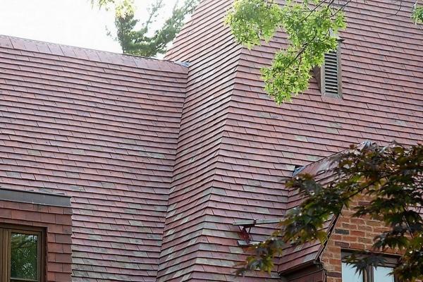 Dachówka ceramiczna Plate Presse 17x27 Ste Foy - Rouge Etna
