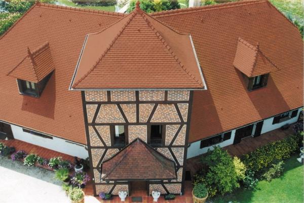 Dachówka ceramiczna Plate Presse 17x27 Ste Foy - Rouge Nuancé
