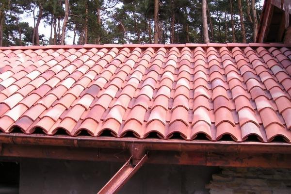 Dachówka ceramiczna Canal Gironde (mnich-mniszka) -Ancien