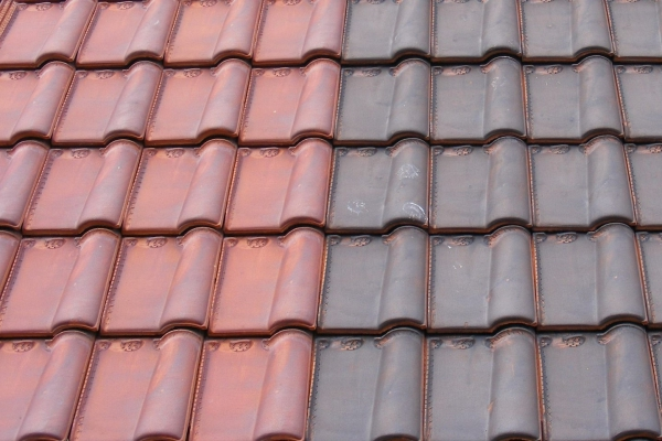 Dachówka ceramiczna Monopole 3 - Amarante Rustique , Vieilli Masse